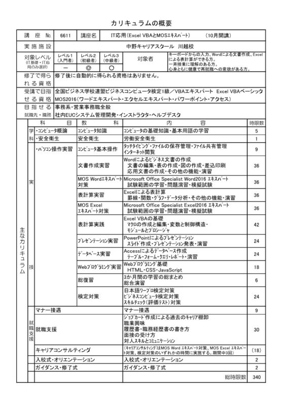 IT応用(Excel VBAとMOSエキスパート