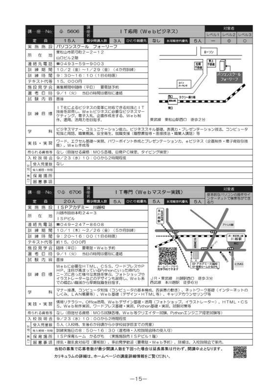 IT専門(Webマスター実践)