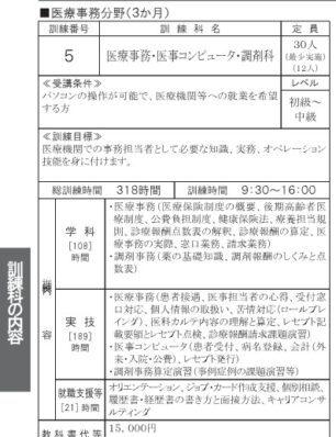 神奈川で職業訓練≫医療事務科