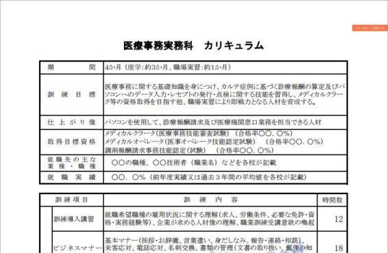 秋田県で職業訓練≫医療事務実務科